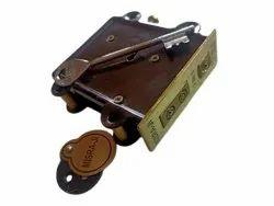 Brown,Golden Misra ji Brass Door Lock