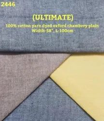 Ultimate 100% Cotton Yarn Dyed Oxford Chambray Plain Shirting Fabric