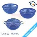 Blue Plastic Tokri 22 - Rcrrcc, For Storage, Design/pattern: Round