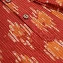 Janasya Men's Orange Cotton Kurta( Men5021)