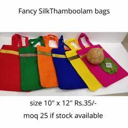 Fancy silk thamboolam bag