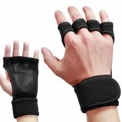 Fingerless Weight Lifting Workout Gloves For Men, Women With Palm Protection