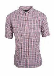Mens Semi Formal Check Shirts