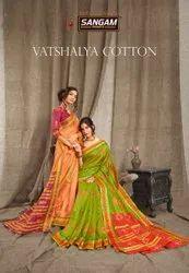 Sangam Prints Vatshalya Cotton Party Wear Printed Saree Catalog