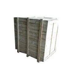 Cuboid Rubber Wood Packaging Box, Size(LXWXH)(Inches): 48l*36w*48h Inch, 15 mm