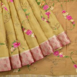 5.5 m (separate blouse piece) Festive Wear Ladies Embroidered Banarasi Silk Saree
