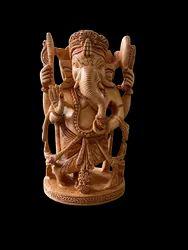 Ganesh Ji Wooden Murti 5 Inch Standing
