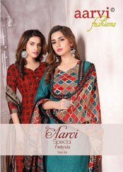 Aarvi Fashion Patiyala Vol 14 Printed Cotton Dress Material Catalog
