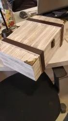 Box In Plywood With Leather Trims