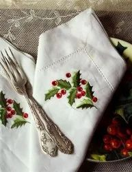 Christmas Embroidered Tablecloth