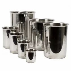 Cylindrical Stainless Steel Beakers, For Industrial