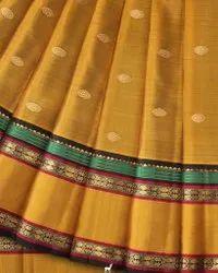 Party Wear Weaving Ladies Kanjivaram Silk Saree, 5.5 m (separate blouse piece)