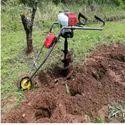 Mecstroke Brand 2stroke 68cc Heavy Duty Petrol Operated Hand Push Trolley Earth Auger