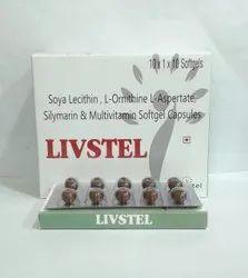 Soya Lecithin, L- Ornitthine L-Aspertate, Silymarin Softgel Capsules