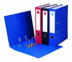Blue Paperboard Clip File PVC Cover, Packaging Type: Box