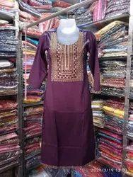 Rayon Designer Ladies Kurti, 12345