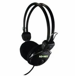 Black Over The Head AD - HP -306 Stereo Wired Headphones