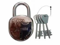 With Key Normal Narain Xtreme Stainless Steel Padlock, Padlock Size: 65 mm, Chrome