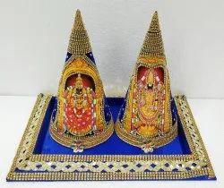 Silk Base Tray Paruppu Thengai Koodu, Size/Dimension: 1 Feet Cone