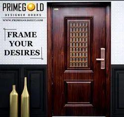 Standard Brown Window Door PGW-2, Thickness: 70MM, Material Grade: Zink Alloy Dkp Sheet