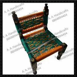 Designer Wooden Chair, Peedhi, Sitting