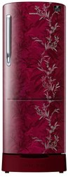 3 Star Mystic Overlay Red Samsung RR24T285Y6R Refrigerator, Double Door, Capacity: 230 Liters