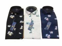 Floral Cotton Mens Designer Casual Printed Shirt