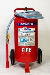 Vintex BC/ABC Trolley Mounted Fire Extinguisher, For Industrial, Capacity: 50 Kgs