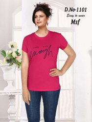 Half Sleeve Round Ladies T Shirt