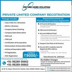 10-15 Dats Commercial Company Registration, Rajasthan, Professional Experience: 2 Years