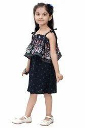 Navi Blue Girl Kids One Piece Dress