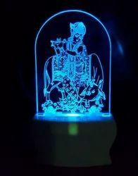 Shayona Loard Krishna With Cow Multi Color 3D Illusion LED Acrylic Night Lamp