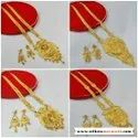 Good Quality Long Haar Necklace And Earrings Jewellery Set For Women And Girl Bijoux - 2