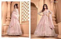 Embroidered 4 Color ANK ENTERPRISE Bridal Anarkali Suits For Wedding