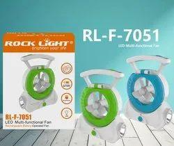 Rock Light Rechargable Fan