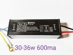 STAR BRIGHT 85-300volt 30 36 W LED Driver 600mA, For Street Light, Output Voltage: 36-60 Volt