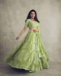 Present Soft Net With Good Looking Lehenga Choli