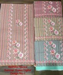 Radhika Fabrics Cotton Lizibizi Digital Print Suit Dupatta, Machine wash