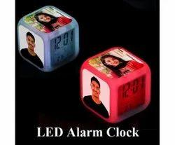 Square Alarm Photo Frame Clock, Size: 6 Inch * 6 Inch * 6 Inch