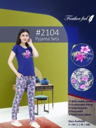 Branded Ladies And Women Casual Wear Tops Bottom Night wear Pyjama Set Size S-XXL