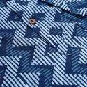 Janasya Men's Blue Cotton Kurta(MEN5012)