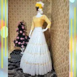 Present Georgette With Embroidery Work Lehenga Choli
