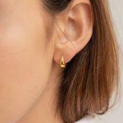 Lucy Hinged Huggie Earrings
