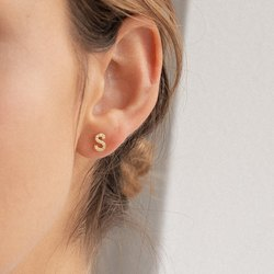 Pave Letter Earrings