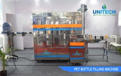 Automatic Pet Bottle Filling Machine (Capacity: 72 BPM)