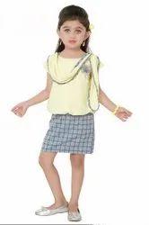 Cotton Lemon Girls Short Middy, Size: 1yr - 8yr