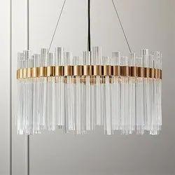 LED Glass Crystal Chandelier Light