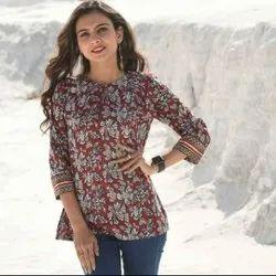 Women Printed Cotton Top
