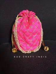 Raw Silk Potli Bag