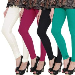 Eon Exports Cotton Ladies Plain Churidar Legging, Size: Free Size